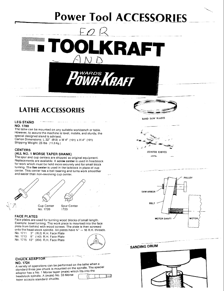 ToolKraft Parts - Replacement Parts for Woodworking Power